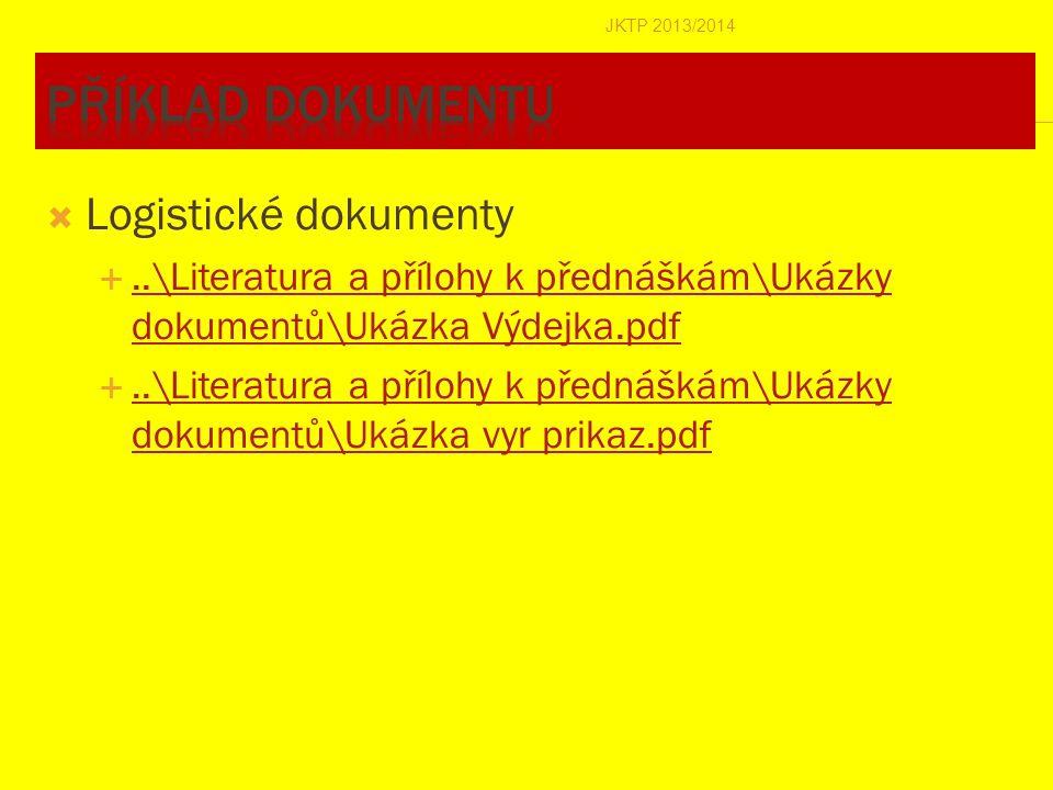  Logistické dokumenty ..\Literatura a přílohy k přednáškám\Ukázky dokumentů\Ukázka Výdejka.pdf..\Literatura a přílohy k přednáškám\Ukázky dokumentů\
