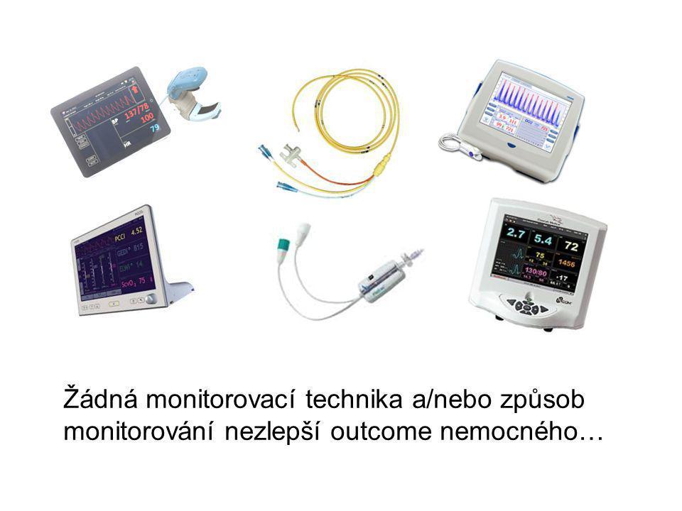 Žádná monitorovací technika a/nebo způsob monitorování nezlepší outcome nemocného…