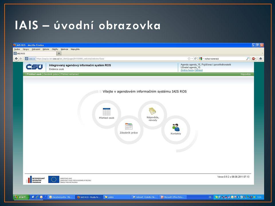• Připojení k ROS pomocí IAIS je bezplatné • Jde o centrální webové řešení připravované v gesci ČSÚ, které poskytne nástroj pro zápis osob i změn refe