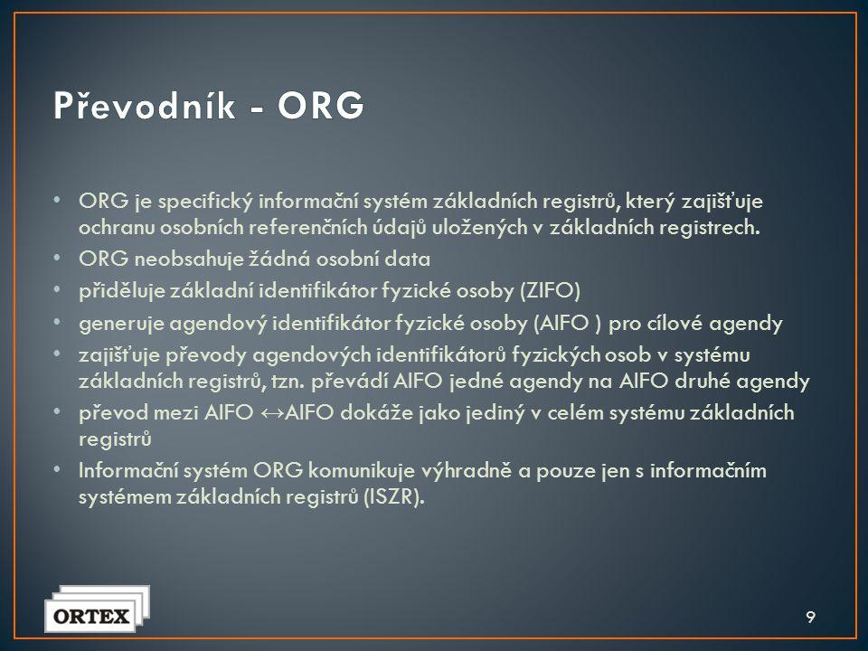 • Bude uchovávat informace o působnosti orgánů veřejné moci. Do tohoto registru se přihlásí jednotlivé agendy, které budou editovat nebo využívat údaj