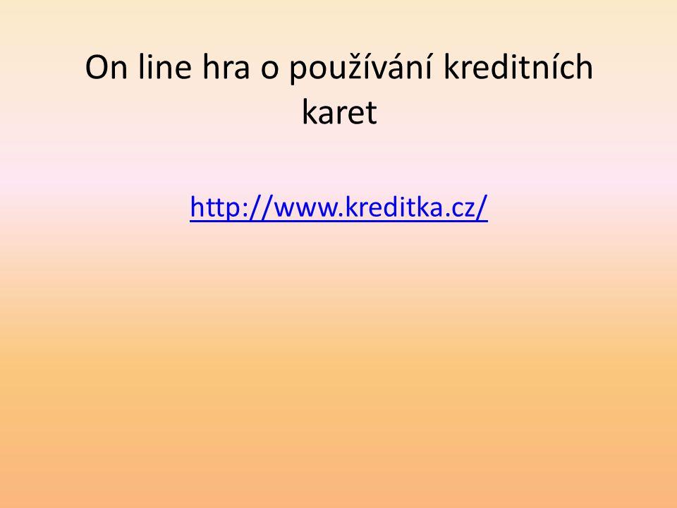 On line hra o používání kreditních karet http://www.kreditka.cz/