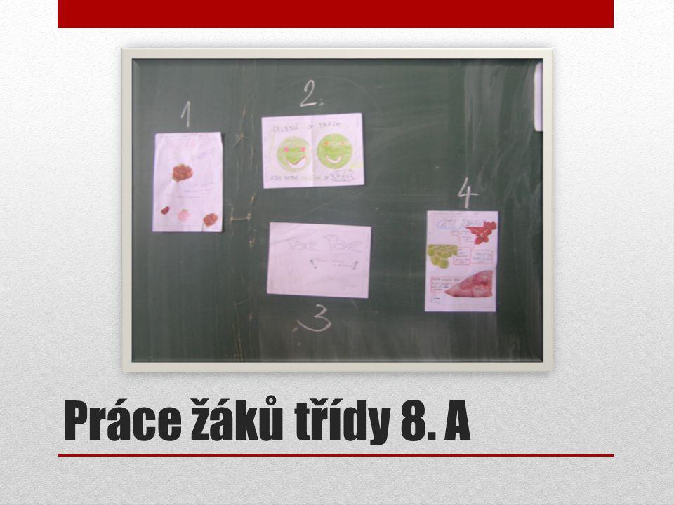 Práce žáků třídy 8. A