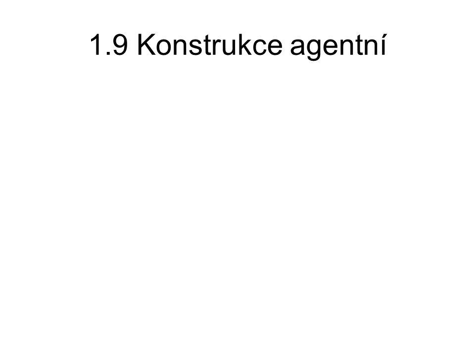 1.9 Konstrukce agentní