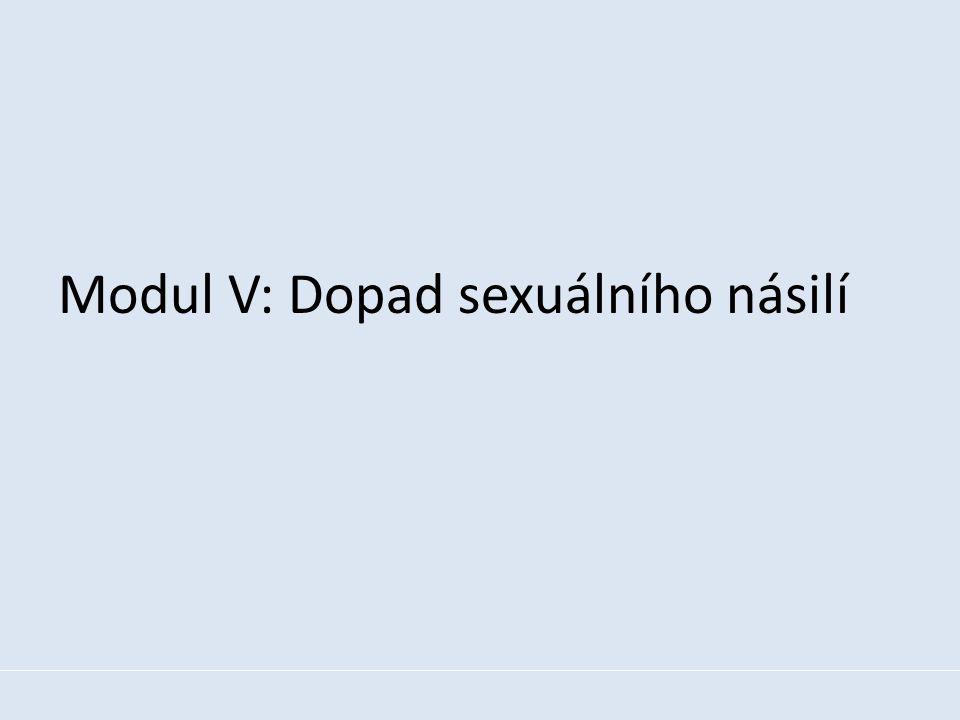 Modul V: Dopad sexuálního násilí