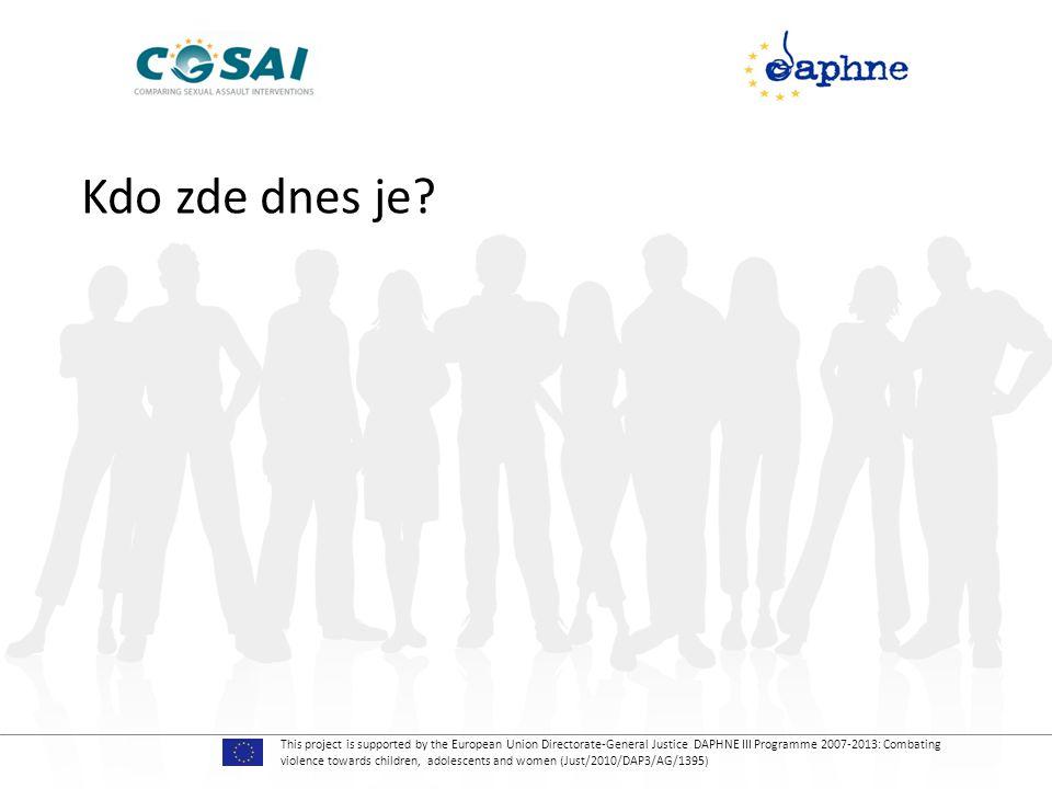 This project is supported by the European Union Directorate-General Justice DAPHNE III Programme 2007-2013: Combating violence towards children, adolescents and women (Just/2010/DAP3/AG/1395) • Existuje nějaký problém, který by byl nejasný, nebo něco, o čem jsme nehovořili, a vy se domníváte, že zde mělo zaznít.
