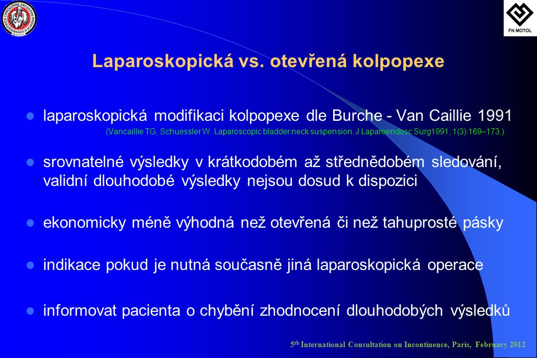 Laparoskopická vs.