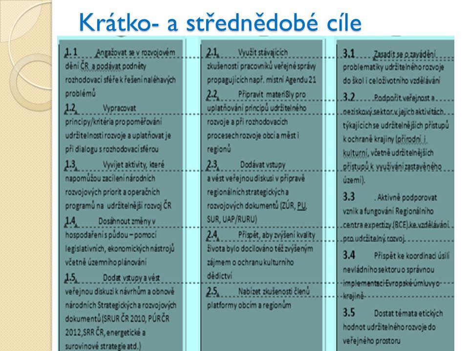 Priorita 1: Národní úroveň 1.Angažmá v rozvojovém dění ČR, podněty 2.
