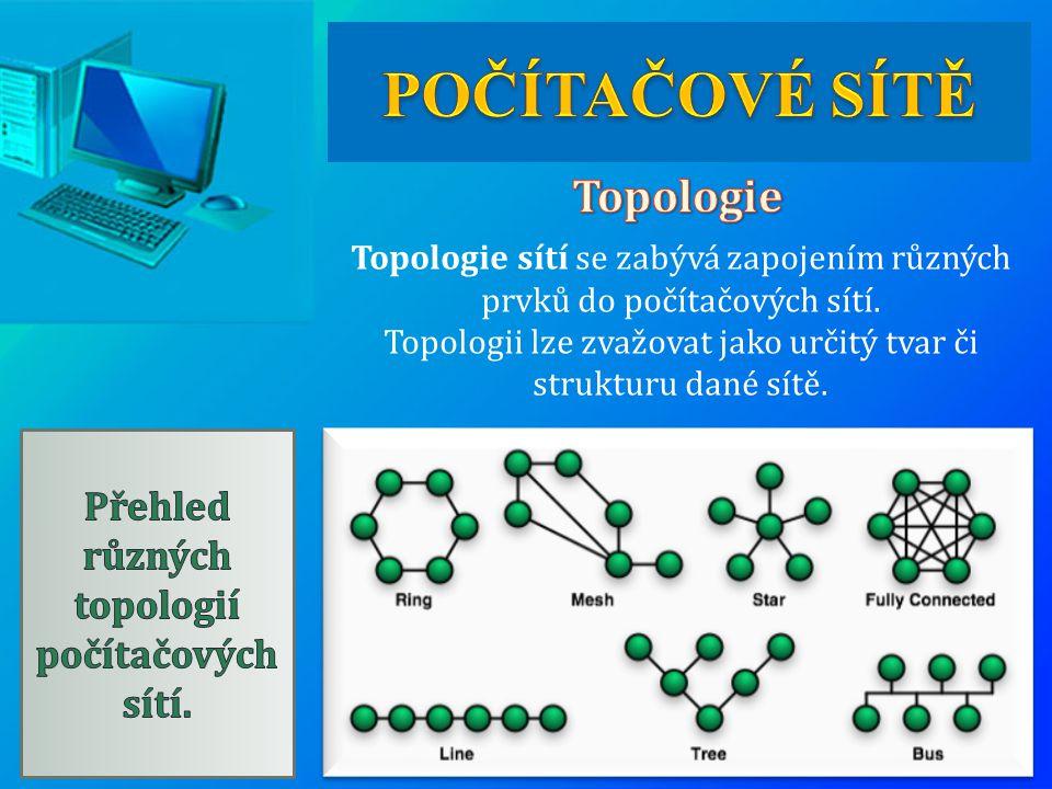 Topologie sítí se zabývá zapojením různých prvků do počítačových sítí. Topologii lze zvažovat jako určitý tvar či strukturu dané sítě.