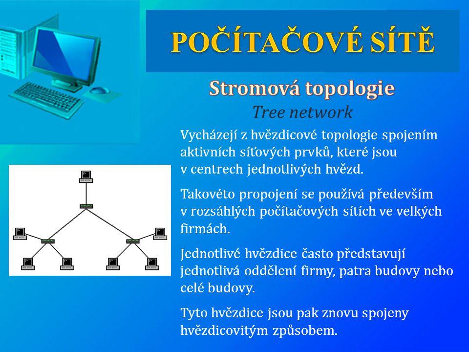 Vycházejí z hvězdicové topologie spojením aktivních síťových prvků, které jsou v centrech jednotlivých hvězd. Takovéto propojení se používá především