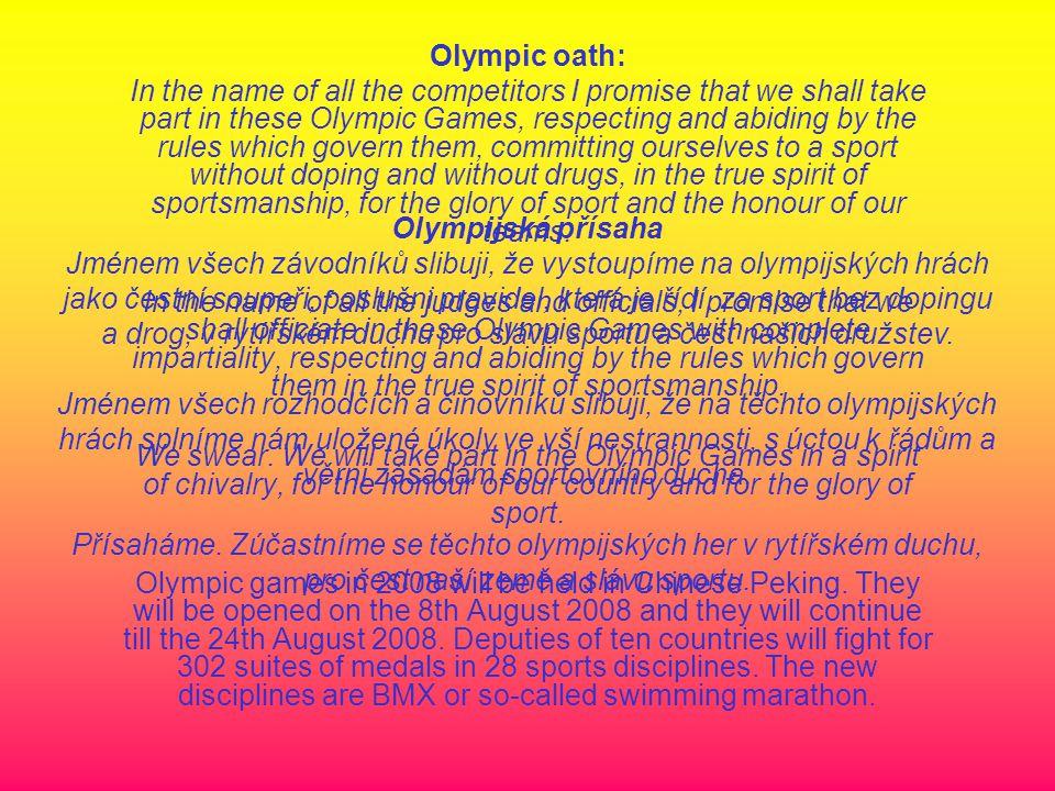 Letní olympijské hry 2008 Č ína - Peking