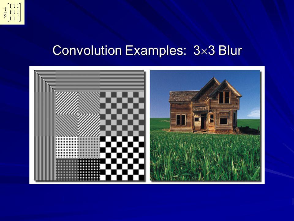 Convolution Examples: 3  3 Blur