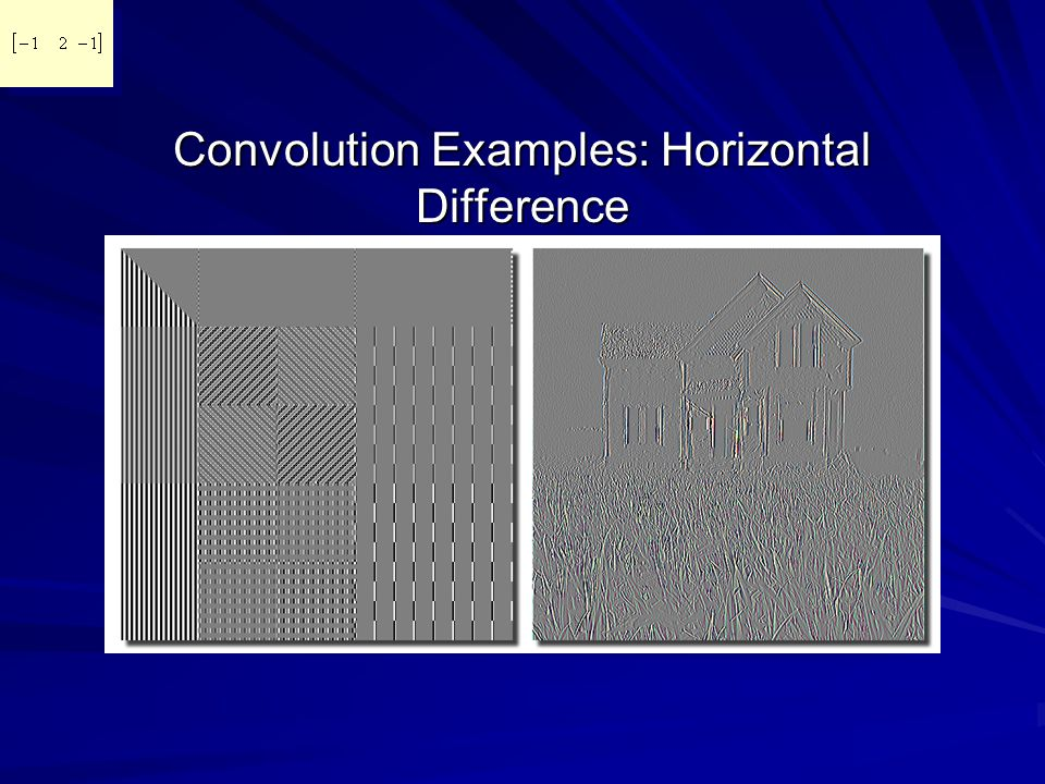 Convolution Examples: Horizontal Difference