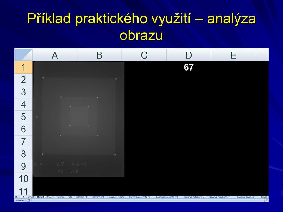 Příklad praktického využití – analýza obrazu