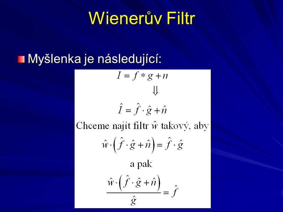 Wienerův Filtr Myšlenka je následující: