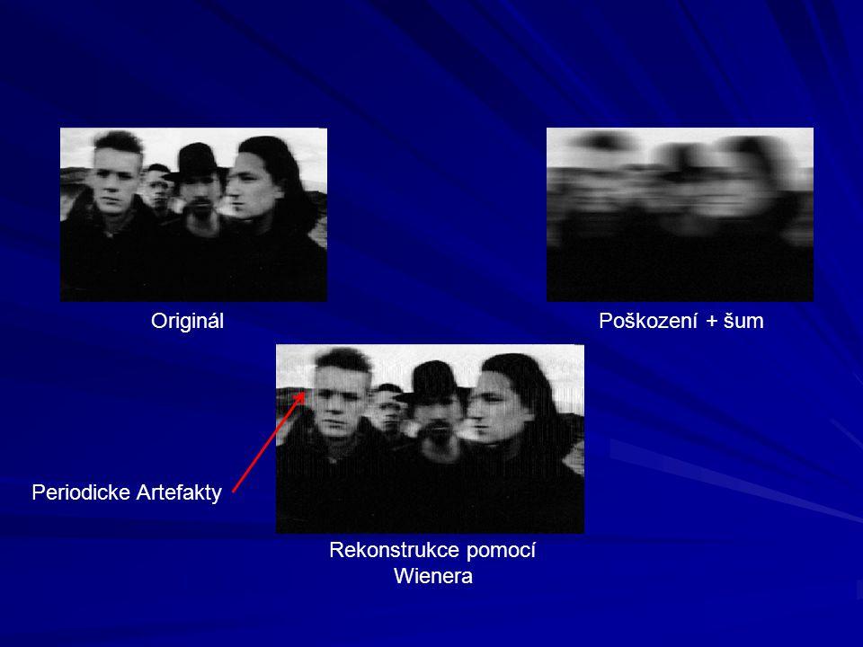 OriginálPoškození + šum Rekonstrukce pomocí Wienera Periodicke Artefakty
