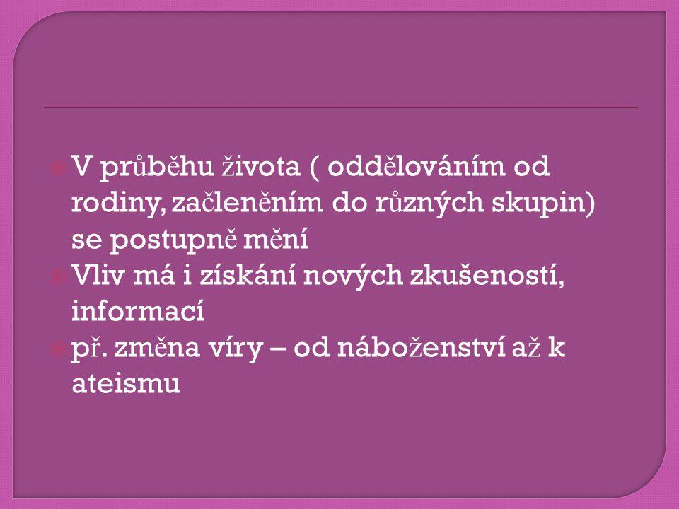 snáze se podléhá zm ě n ě neutrální  p ř.zm ě na vyhran ě ného postoje – musí probíhat postupn ě.