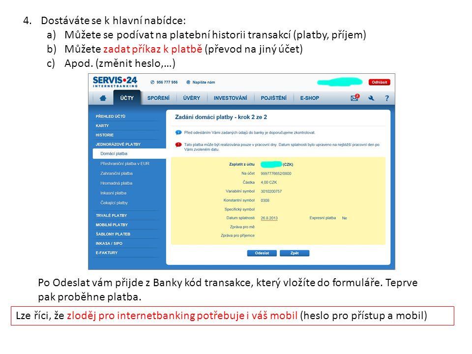 Úkol pro žáka: 1.Nalezněte úročení sporožírového účtu ČS.
