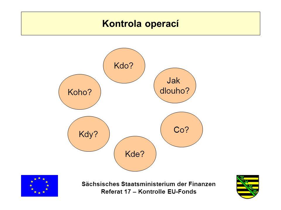 Sächsisches Staatsministerium der Finanzen Referat 17 – Kontrolle EU-Fonds Kdo.