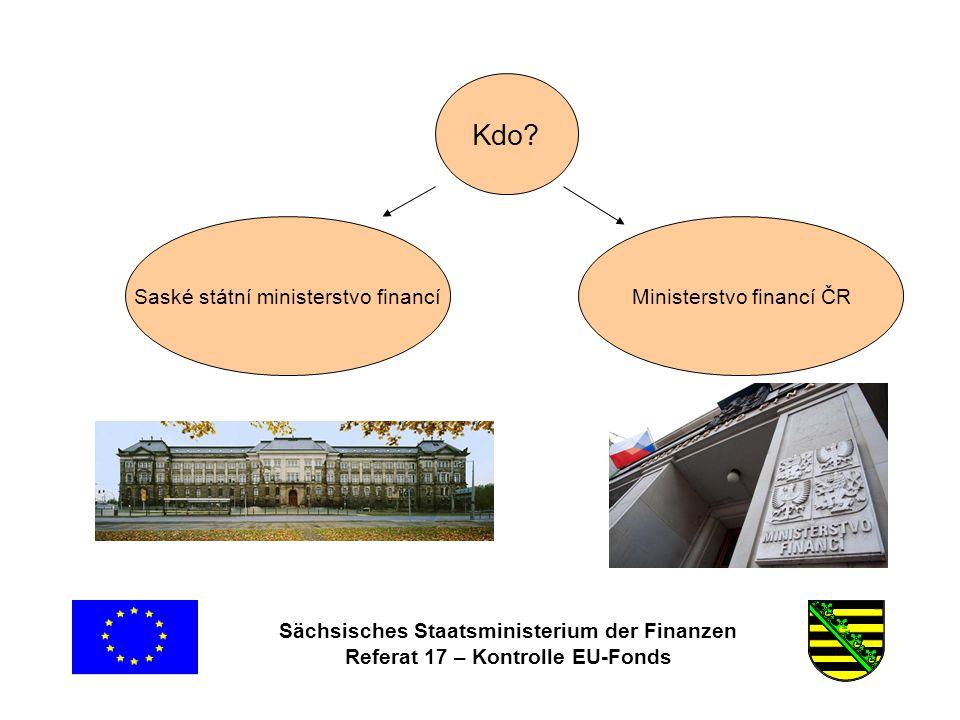 Sächsisches Staatsministerium der Finanzen Referat 17 – Kontrolle EU-Fonds Časté chyby •Nepředložení, případně chybějící dokumentace klíče výpočtu podílu na režijních nákladech (například telefonní poplatky, kancelářský materiál) Režijní náklady, stanované na základě paušálních částek nejsou způsobilé (bod 5.4.8 obecná část RD) .