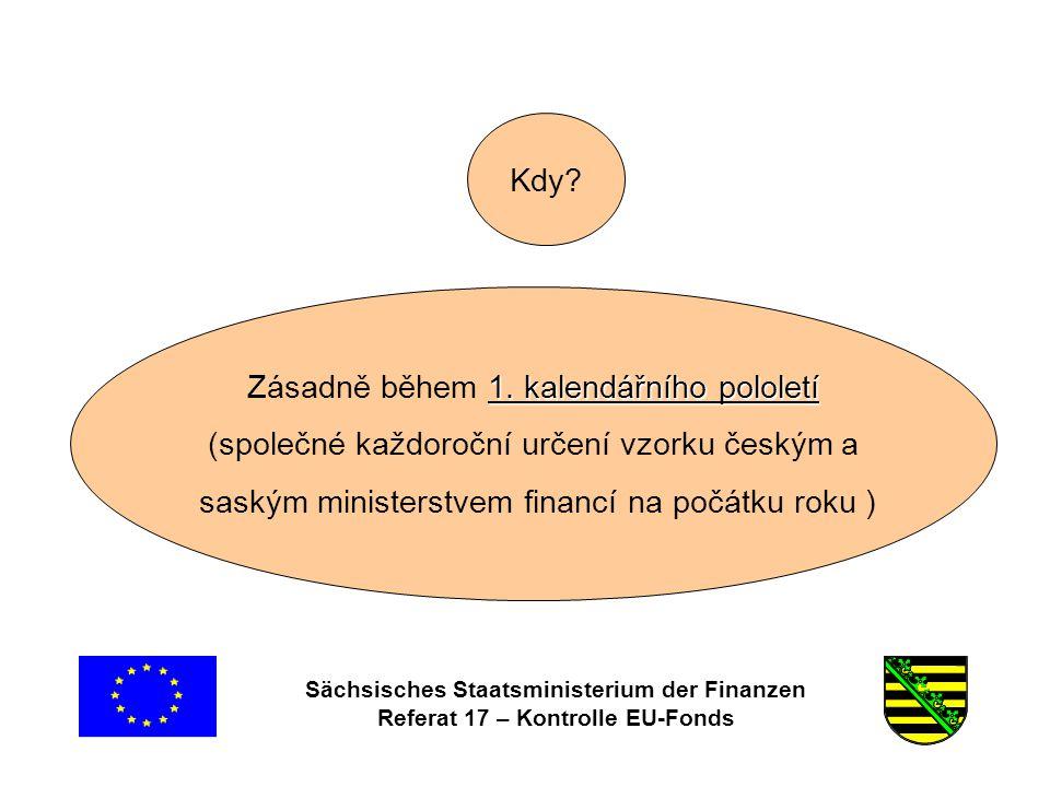 Sächsisches Staatsministerium der Finanzen Referat 17 – Kontrolle EU-Fonds Kde.