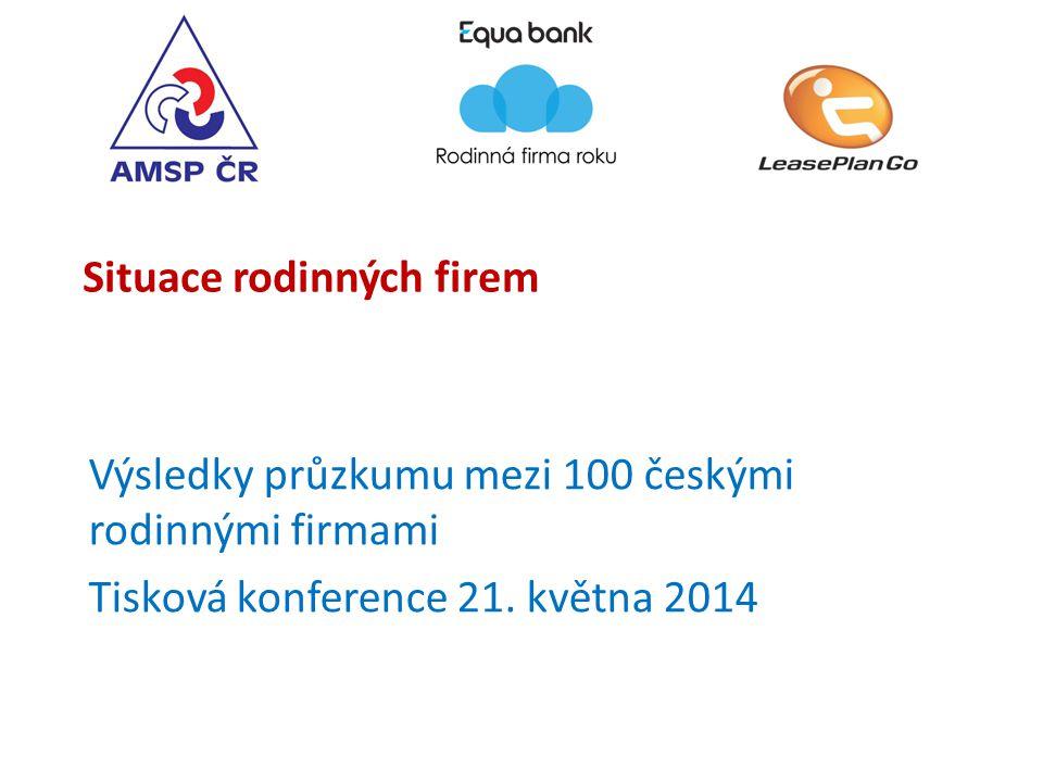 Situace rodinných firem Výsledky průzkumu mezi 100 českými rodinnými firmami Tisková konference 21.