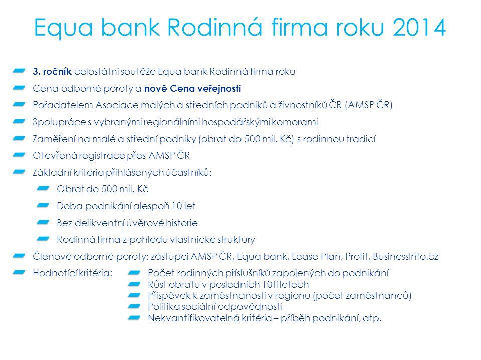 Equa bank Rodinná firma roku 2014 3.
