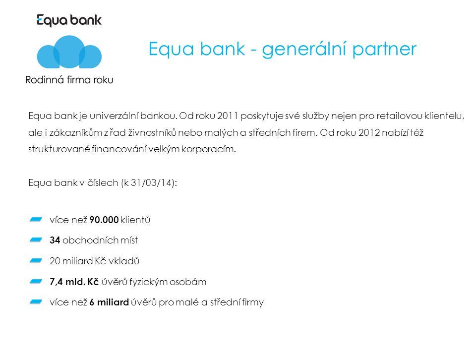 Equa bank - generální partner Equa bank je univerzální bankou.