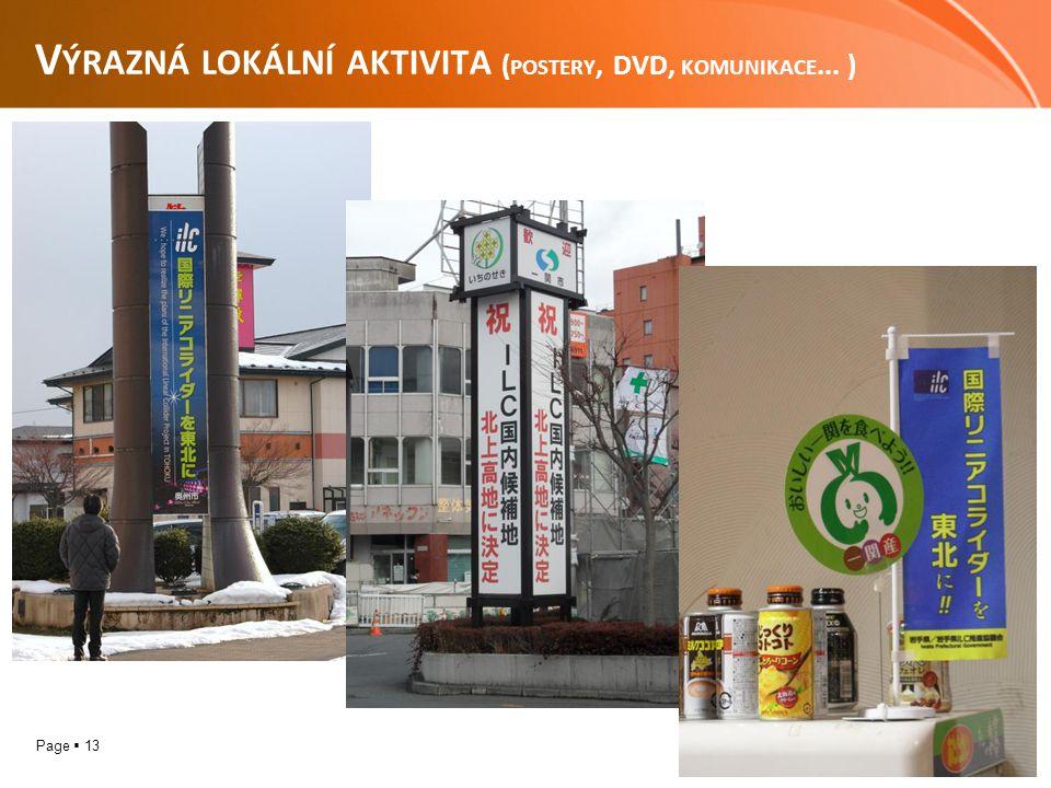 Page  13 V ÝRAZNÁ LOKÁLNÍ AKTIVITA ( POSTERY, DVD, KOMUNIKACE... )