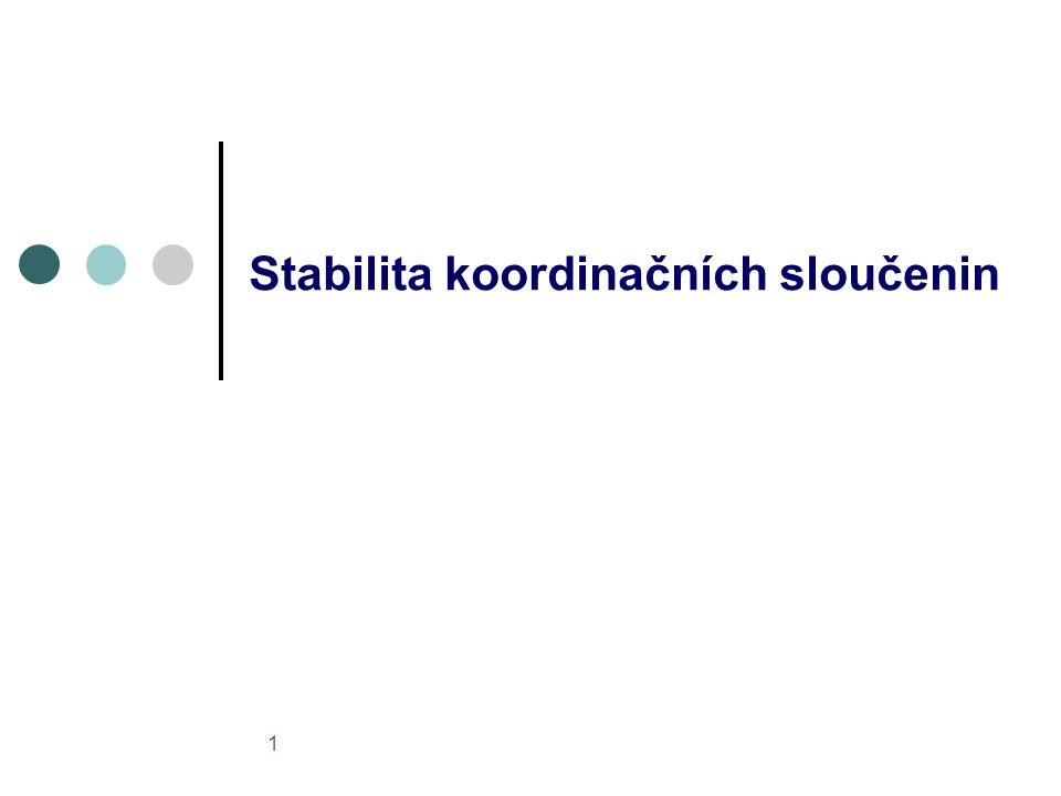 1 Stabilita koordinačních sloučenin