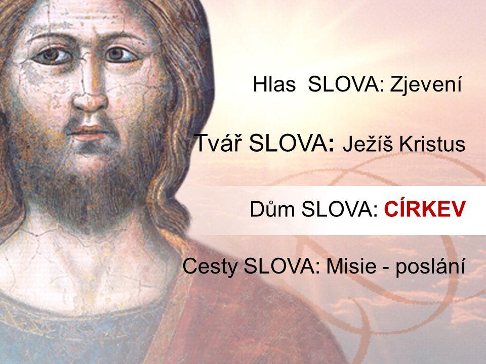 Tvář SLOVA: Ježíš Kristus Hlas SLOVA: Zjevení Dům SLOVA: CÍRKEV Cesty SLOVA: Misie - poslání