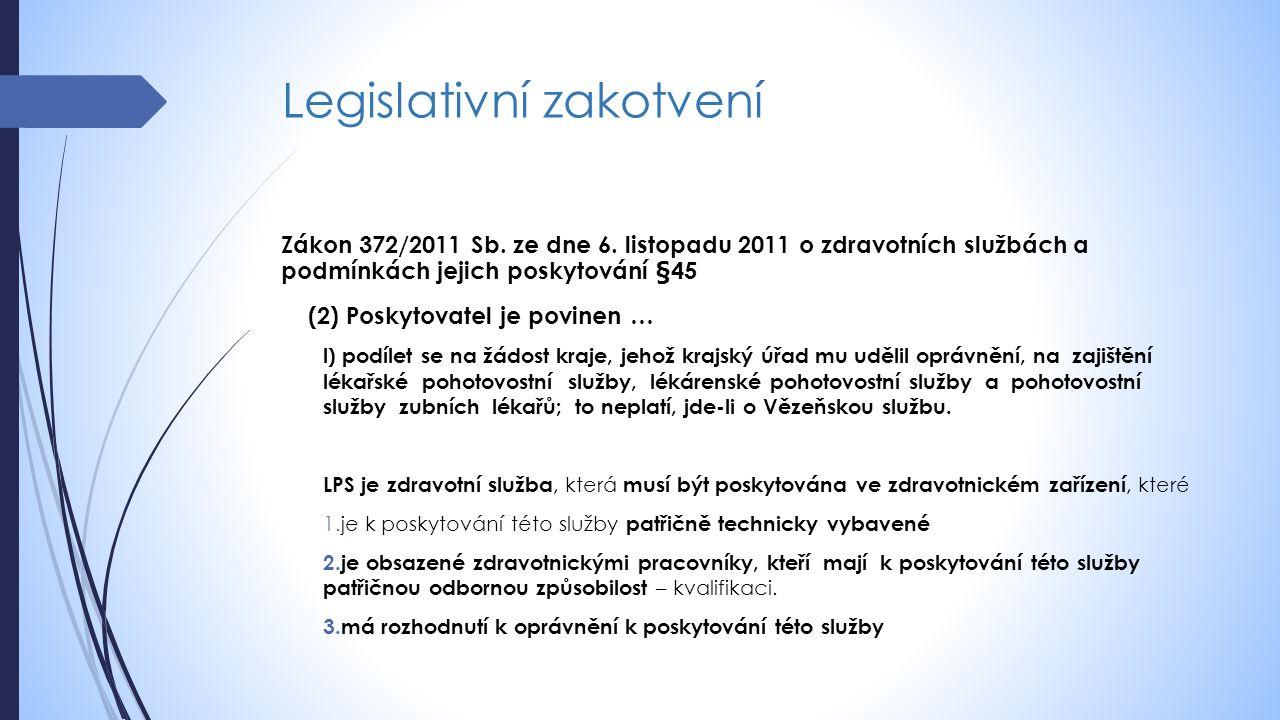 Současný stav zajišťování LPS  V ČR převládá model kdy Krajské úřady zajišťují LPS prostřednictvím jimi řízených zdravotnických zařízení, zejména nemocnic.