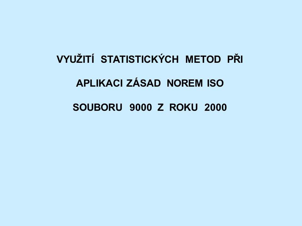 VYUŽITÍ STATISTICKÝCH METOD PŘI APLIKACI ZÁSAD NOREM ISO SOUBORU 9000 Z ROKU 2000