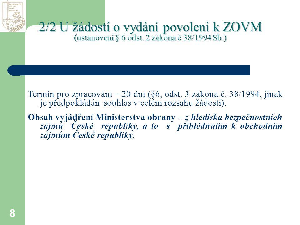 8 Termín pro zpracování – 20 dní (§6, odst.3 zákona č.