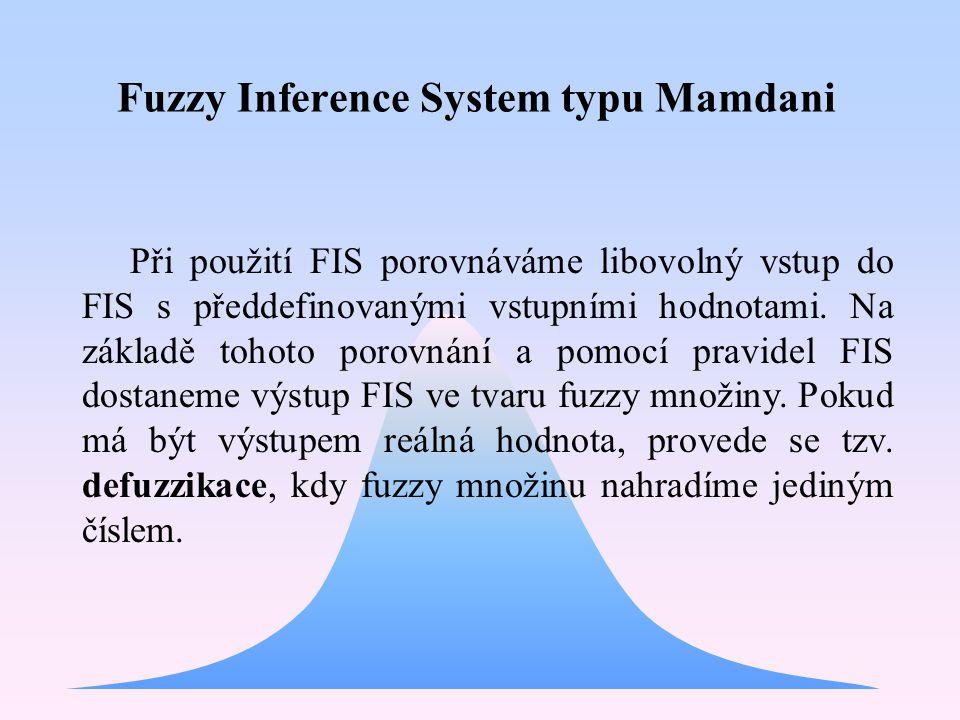 V průběhu hledání vhodného FIS jsme také použili FIS typu Sugeno, který je modifikací FIS Mamdani.