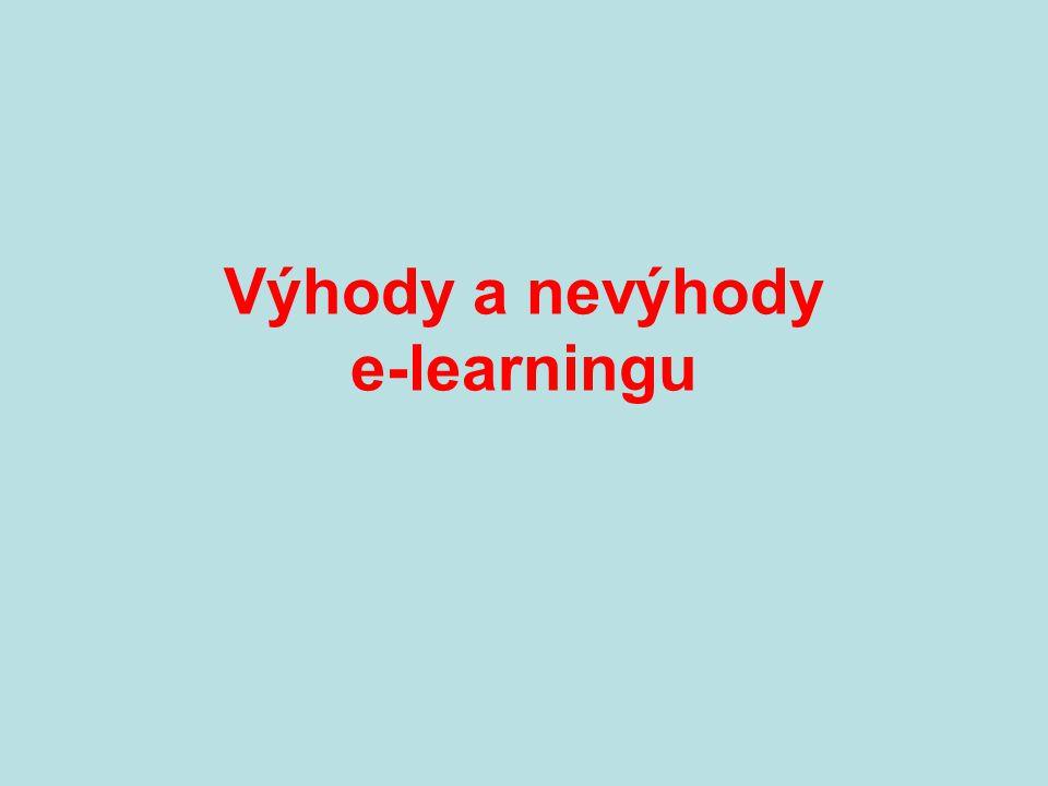 Výhody a nevýhody e-learningu