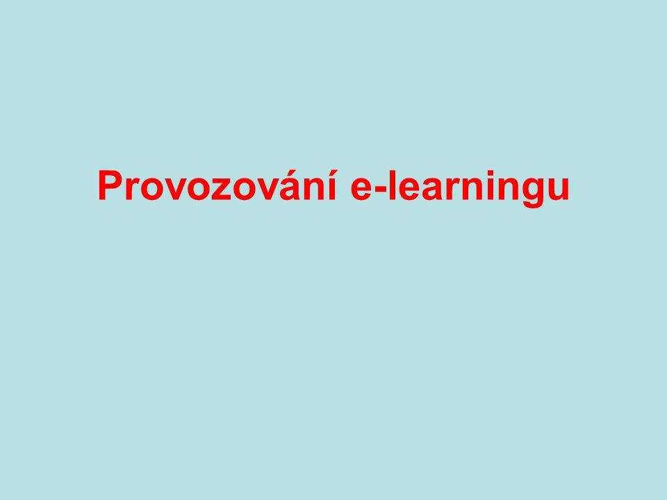 Provozování e-learningu