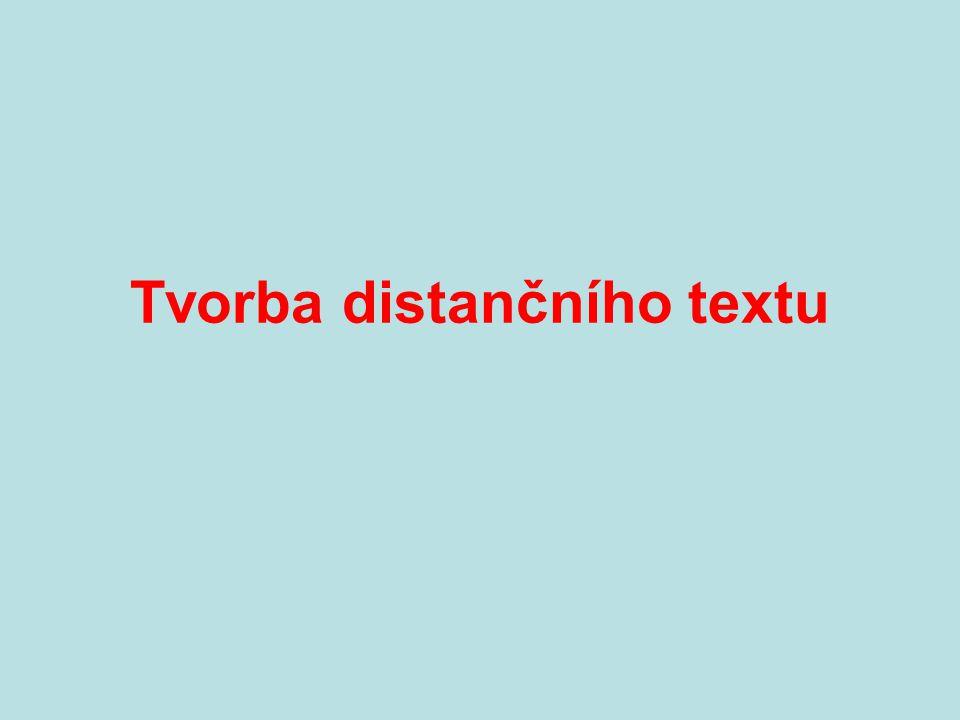 Tvorba distančního textu