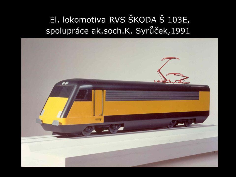 El. lokomotiva RVS ŠKODA Š 103E, spolupráce ak.soch.K. Syrůček,1991