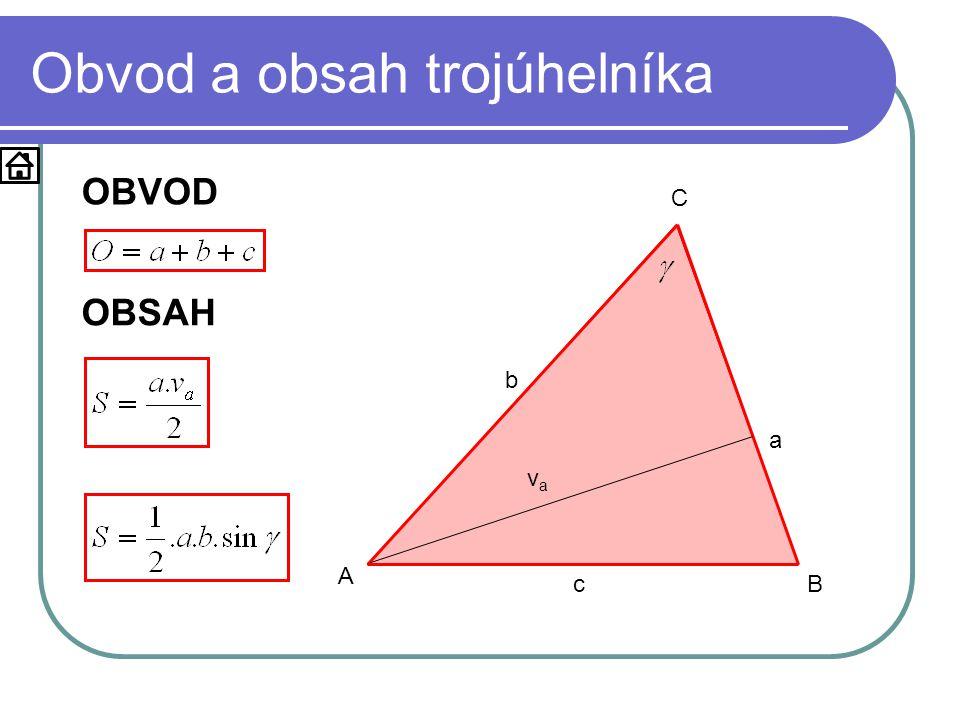 d) určení těžnice Zdroj: Zhouf a kol.: Sbírka testových úloh k maturitě z matematiky, Praha, Prometheus 2002 v a = t a a = 15cm b = 25cm