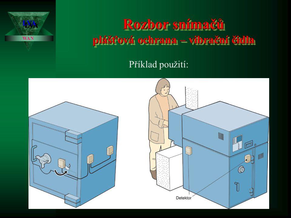 Rozbor snímačů plášťová ochrana – vibrační čidla LVALVA WAN Příklad použití: