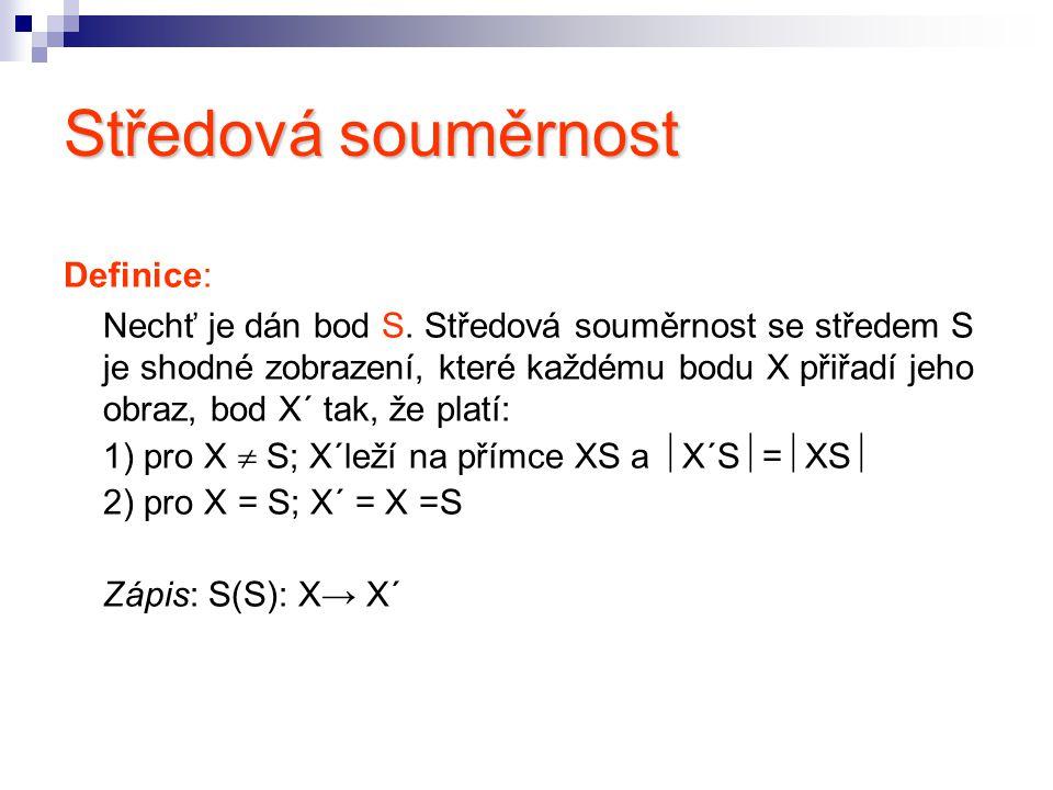 Obraz bodu: S(N):A → A´ Postup konstrukce: 1.A,N 2.