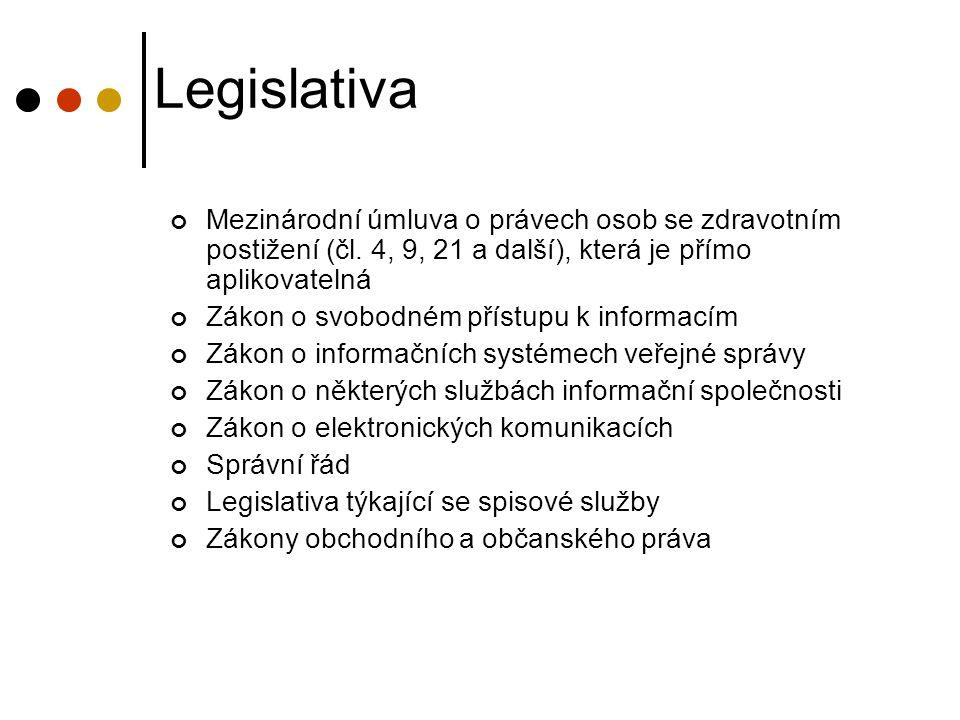 Legislativa Mezinárodní úmluva o právech osob se zdravotním postižení (čl.