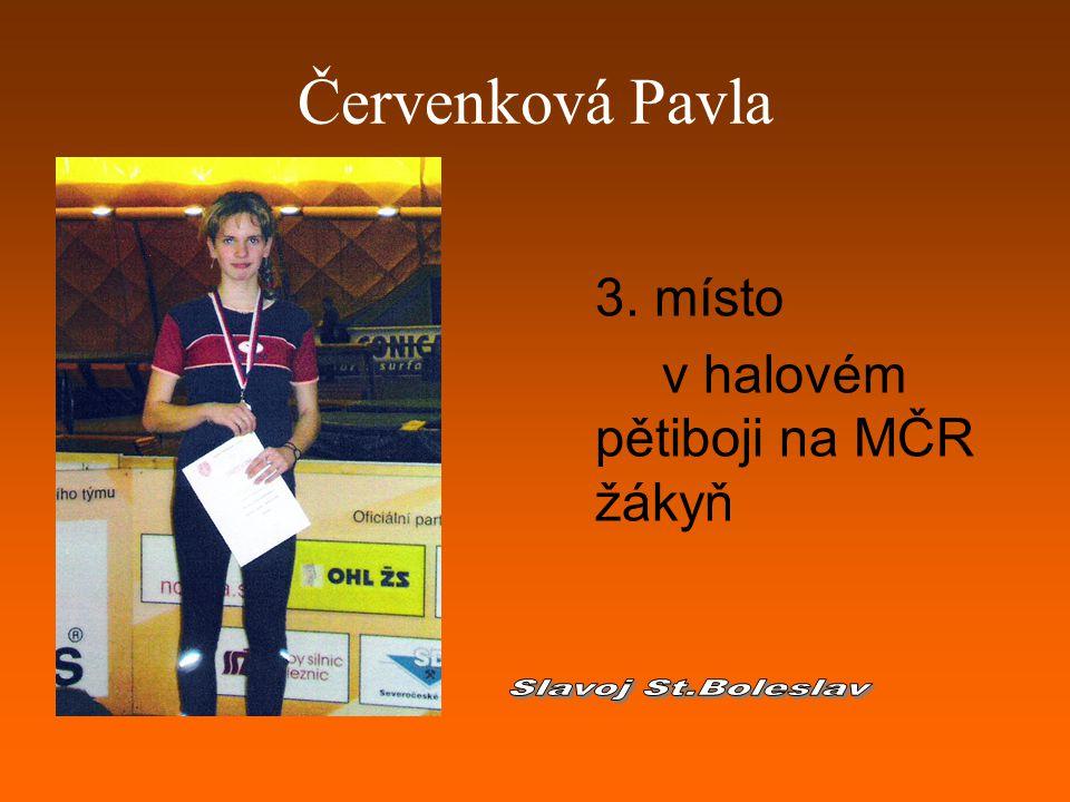 Červenková Pavla 3. místo v halovém pětiboji na MČR žákyň