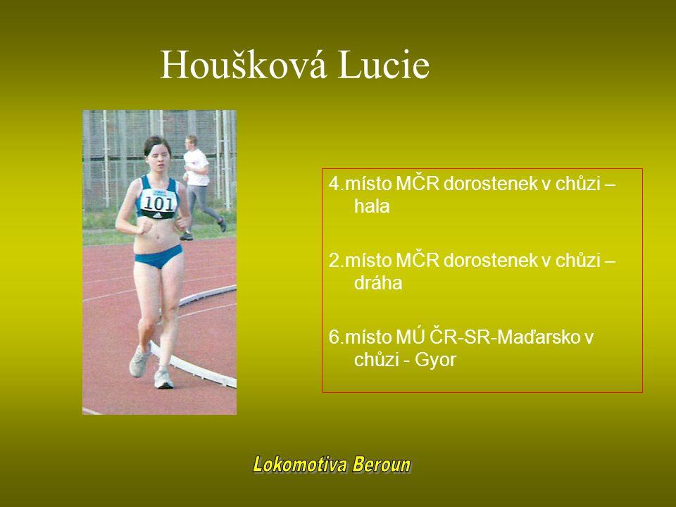 Houšková Lucie 4.místo MČR dorostenek v chůzi – hala 2.místo MČR dorostenek v chůzi – dráha 6.místo MÚ ČR-SR-Maďarsko v chůzi - Gyor