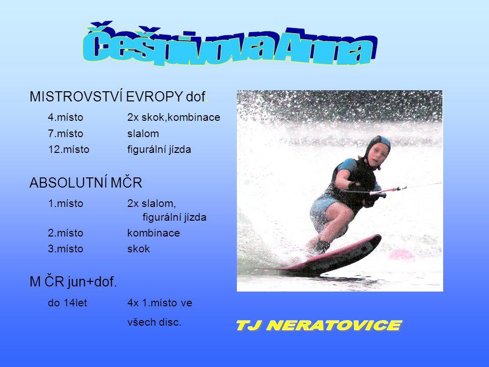 MISTROVSTVÍ EVROPY dof. 4.místo 2x skok,kombinace 7.místoslalom 12.místofigurální jízda ABSOLUTNÍ MČR 1.místo2x slalom, figurální jízda 2.místokombina