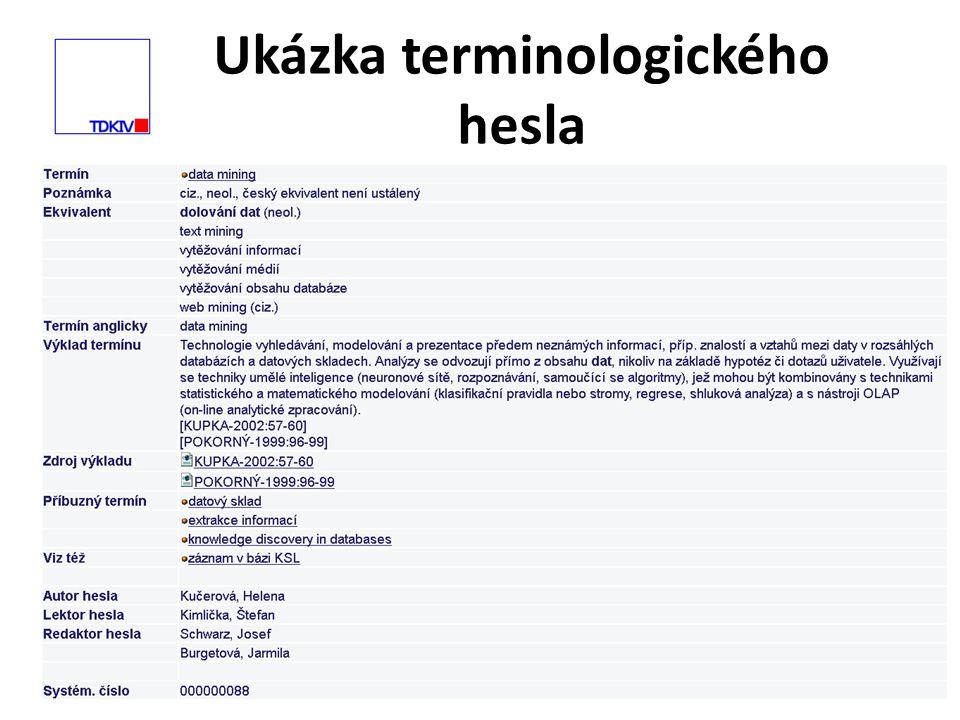 Ukázka terminologického hesla 6