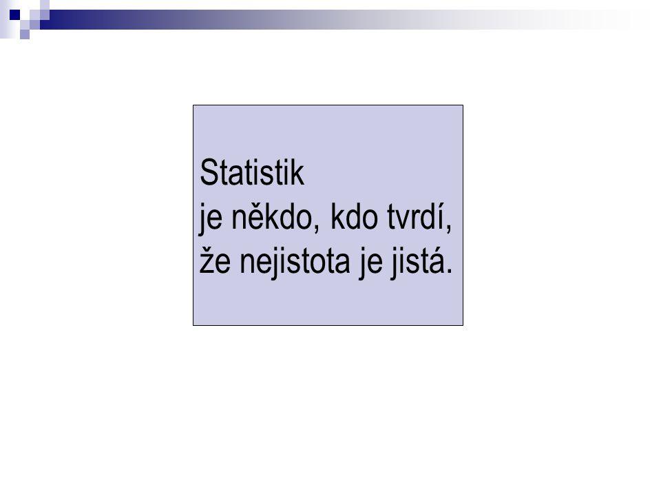 Statistik je někdo, kdo tvrdí, že nejistota je jistá.