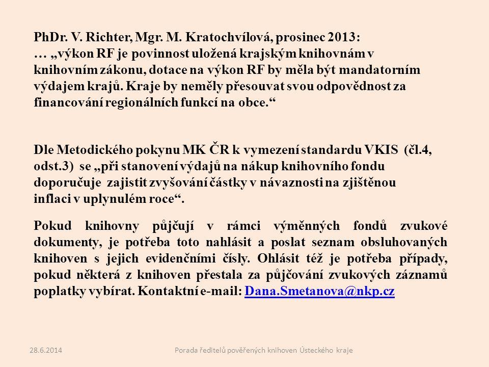 PhDr. V. Richter, Mgr. M.