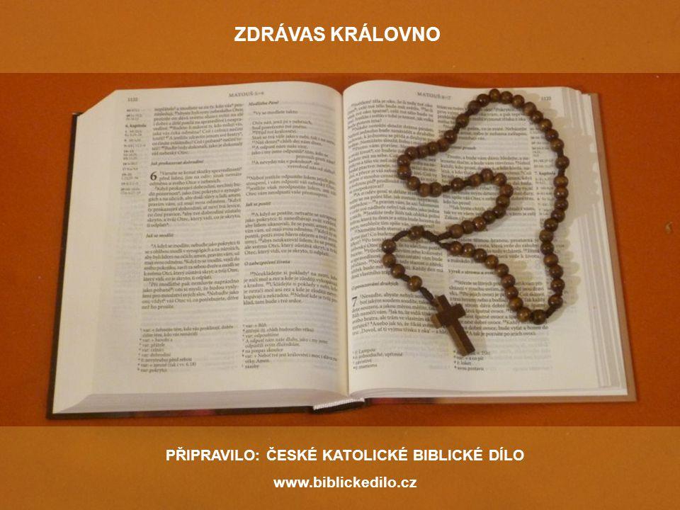 PŘIPRAVILO: ČESKÉ KATOLICKÉ BIBLICKÉ DÍLO www.biblickedilo.cz ZDRÁVAS KRÁLOVNO