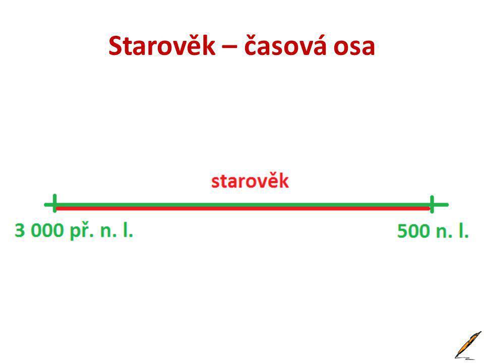 Starověk • Je to období asi od 3 000 př.n. l. do 500 n.